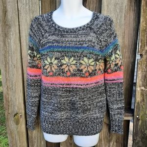 American Eagle Jegging Sweater Gray Snowflake XS